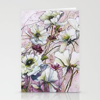 botanical Stationery Cards featuring Botanical by Anna Maiko