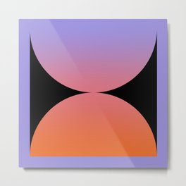 Gradient Abstract V Metal Print