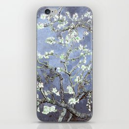 Vincent Van Gogh Almond Blossoms : Steel Blue & Gray iPhone Skin