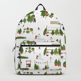 Scene from a Christmas Lot Backpack