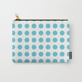 Simply Polka Dots in Seaside Blue Carry-All Pouch