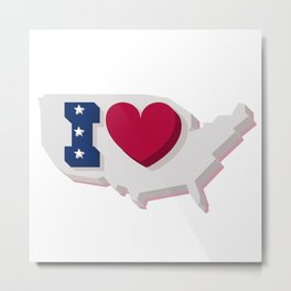 Happy 4th of July! Happy Independence Day!I love USA! Metal Print