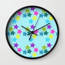 Happy star Wall Clock