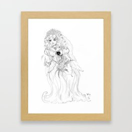 'til DEATH do us part Framed Art Print