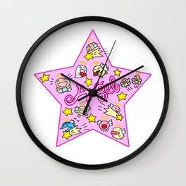 Pink Angel Star Wall Clock
