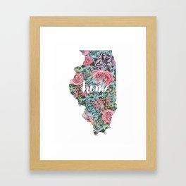 Floral Illinois Home Framed Art Print