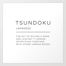 Tsundoku Definition Art Print