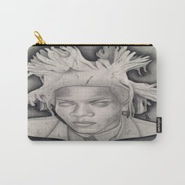 """""""Immortalizing in Stone"""" Jean-Michel Basquiat Drawing Carry-All Pouch"""