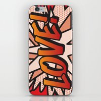 comic book iPhone & iPod Skins featuring Comic Book LOVE! by The Image Zone