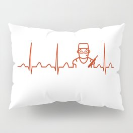 Surgeon Heartbeat Pillow Sham