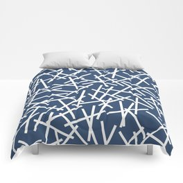 Kerplunk Navy and White Comforters