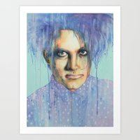 the cure Art Prints featuring Pastel Cure by Anne Blondie Bengard