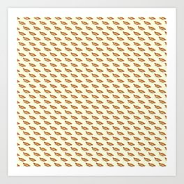 Hot-Dog Pattern Art Print