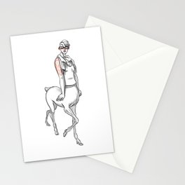 Hipster fawn Stationery Cards
