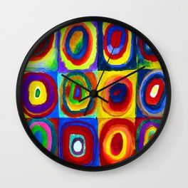 Wassily Kandinsky Color Study Wall Clock
