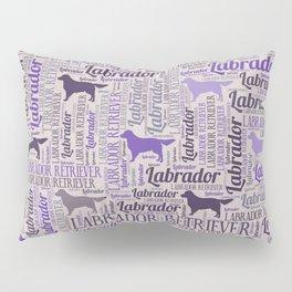 Labrador retriever silhouette and word art pattern Pillow Sham