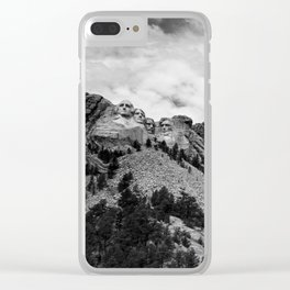 Mount Rushmore National Monument Clear iPhone Case