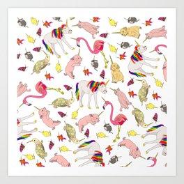 Unicorn Animals Art Print