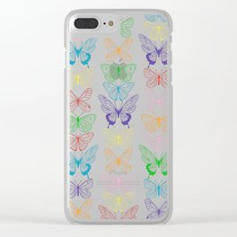Butterfly Rainbow Clear iPhone Case