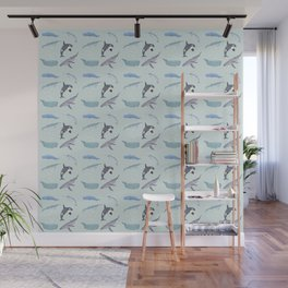 Whale Of A Pattern Wall Mural
