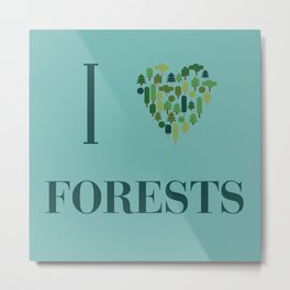I heart Forests Metal Print