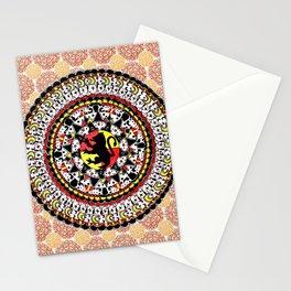 Gryffindor Orange and Maroon Mandala Stationery Cards