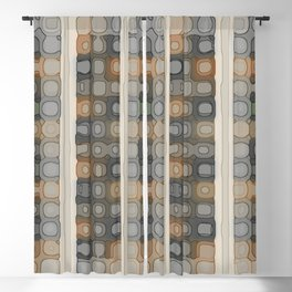 Pale Spacey Panels Blackout Curtain