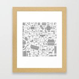 Furniture a background Framed Art Print