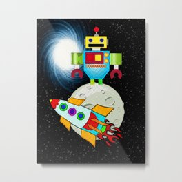 Moon Walk Children's Art Metal Print