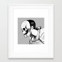mask Framed Art Prints featuring Mask by Brian Luong