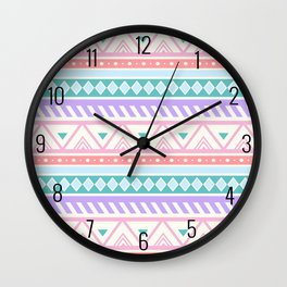 Pastel Tribal Pastel  Wall Clock