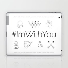 I'm With You (White) Laptop & iPad Skin