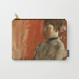 """Edgar Degas """"Ballet dancer with arms crossed"""" Carry-All Pouch"""