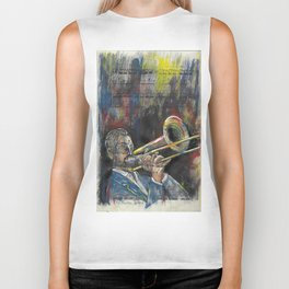 Jazz Trombone 1 Biker Tank