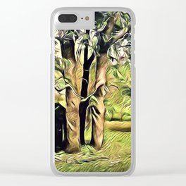 Trees In Surrealism Art Clear iPhone Case