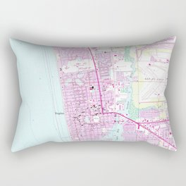 Vintage Map of Naples Florida (1958) Rectangular Pillow