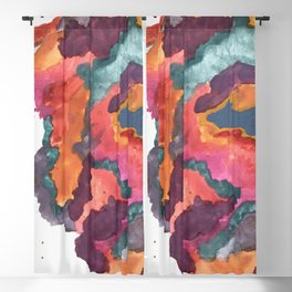 Carnival: a vibrant mixed media piece inspired by New Orleans Blackout Curtain