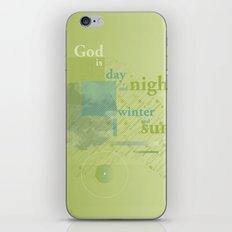 God is #everyweek 5.2017 iPhone Skin