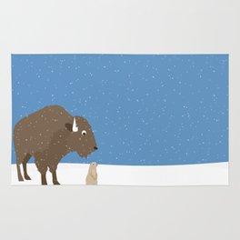 buffalo & prairie dog - I've got you covered Rug
