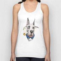 great dane Tank Tops featuring Mr. Great Dane by dogooder