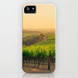 Golden Vineyard  panorama iPhone Case
