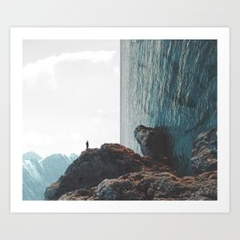 Observing Beauty Art Print