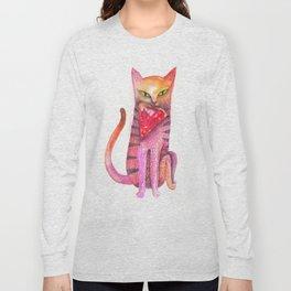 pet cat with precious prey Long Sleeve T-shirt