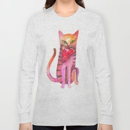 pet cat with precious prey Long Sleeve T-shirt