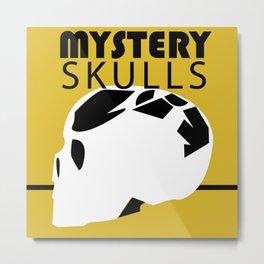 MYSTERY SKULLS Metal Print