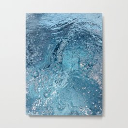 Blue Splash Metal Print