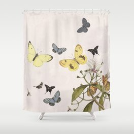 let us dance in the sun pink shower curtain