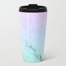 Unicorn Mermaid Girls Glitter Marble #1 #decor #art #society6 Travel Mug