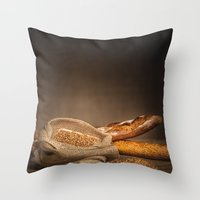 bread Throw Pillows featuring Bread. by Alexey & Julia