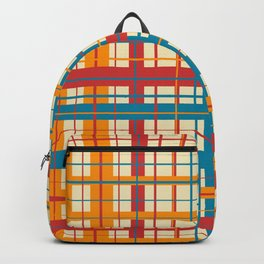 Plaid pattern Backpack